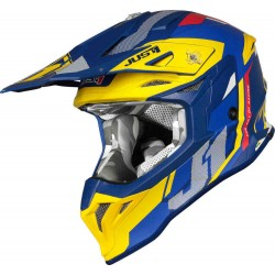 КАСКА  J39 REACTOR Motocross Helmet Yellow/Blue